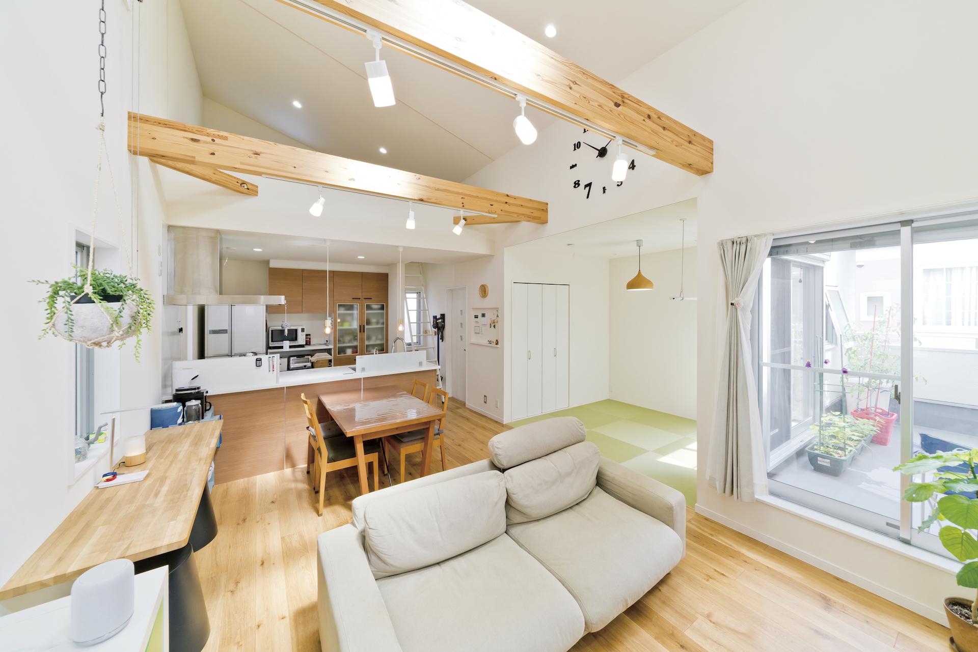 新築 豊中市 内観 キッチン リビング 和室1
