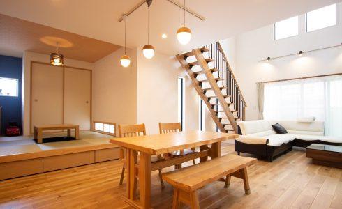 上野工務店,新築,リビング,キッチン