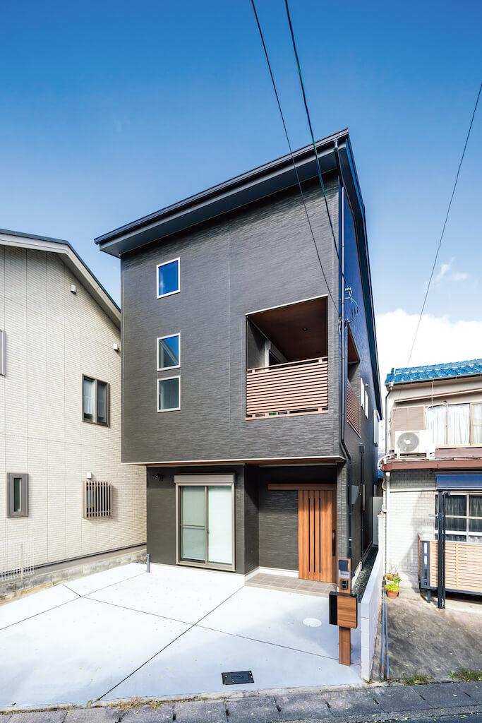 上野工務店,新築,外観,茨木市,自社施工