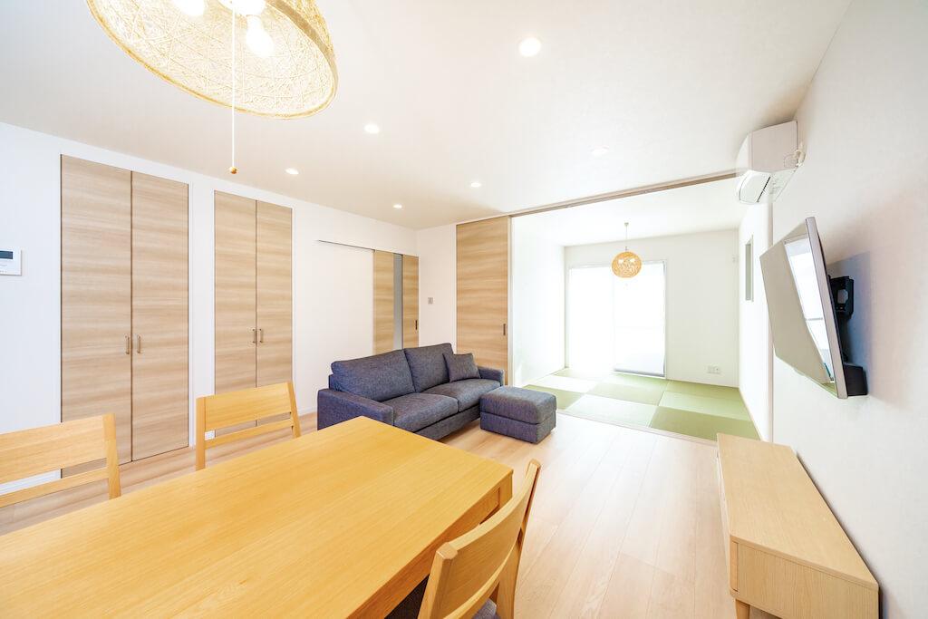 上野工務店,新築,茨木市,自社施工,リビング
