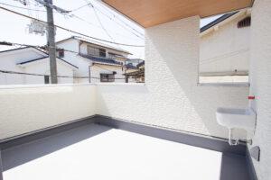 上野工務店,新築,茨木市,自社施工,バルコニー