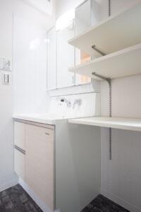 上野工務店,新築,茨木市,自社施工,洗面