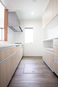 上野工務店,新築,茨木市,自社施工,キッチン