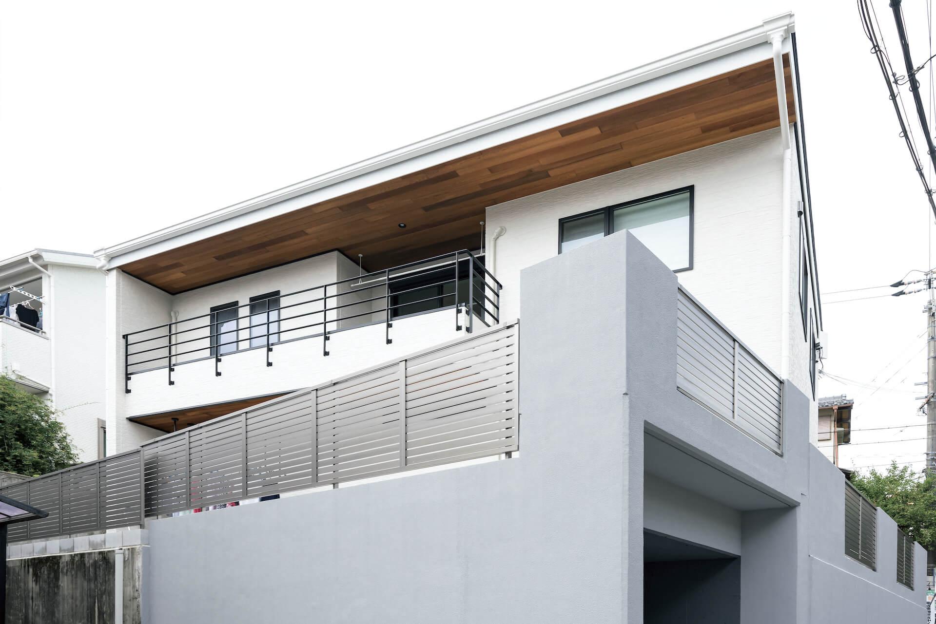 上野工務店,新築,外観,吹き抜け,茨木市,自社施工