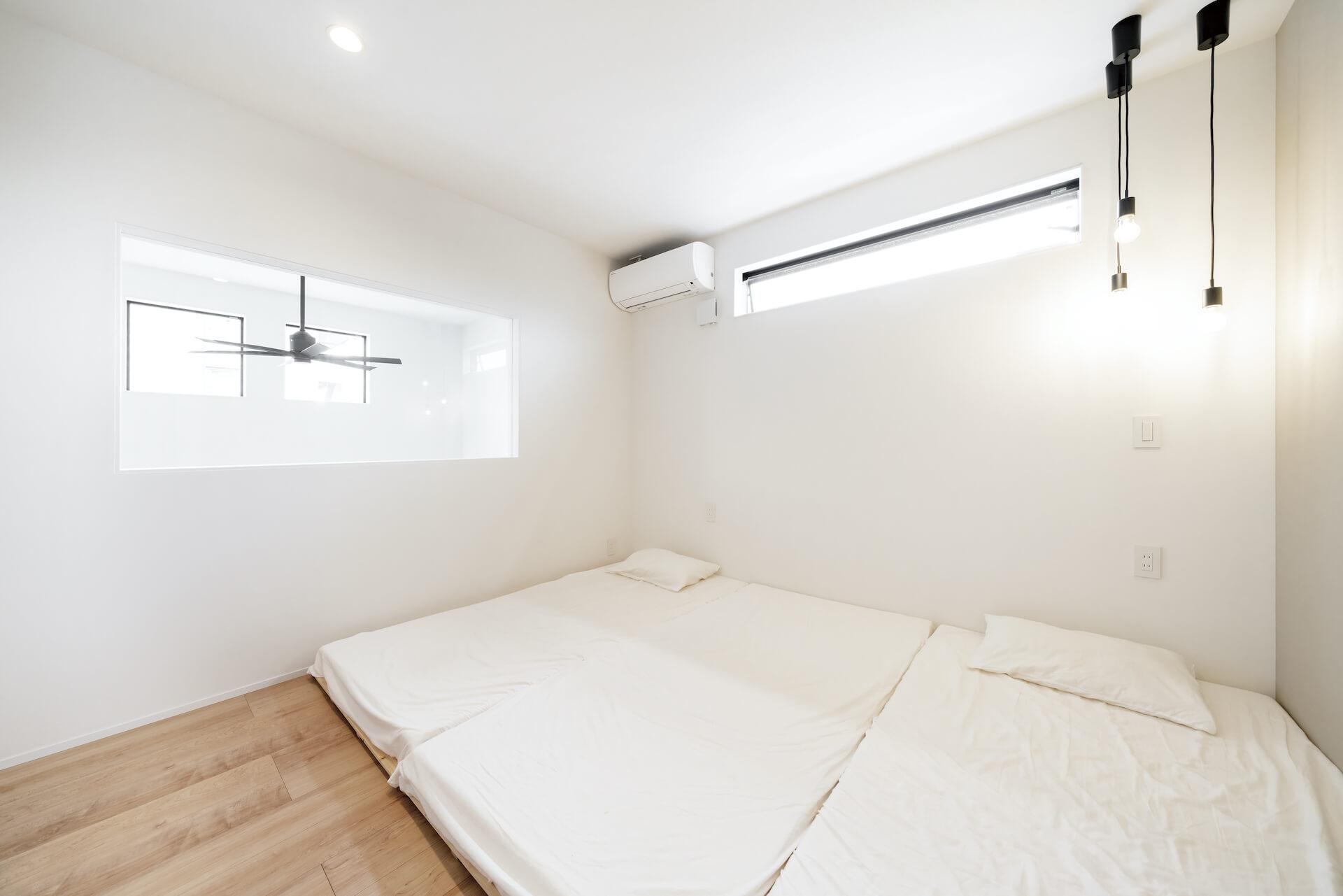 上野工務店,新築,2階,居室,吹き抜け,茨木市,自社施工
