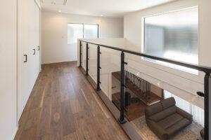 上野工務店,新築,2階ホール,茨木市,自社施工